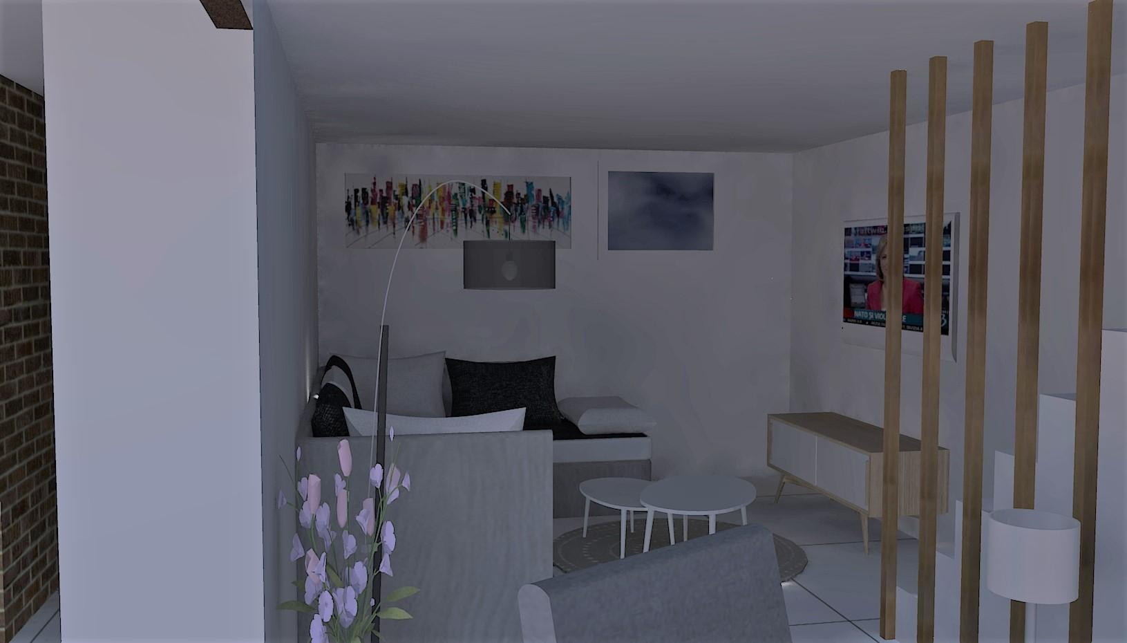 Salon  [VUE 3D - RENDU RÉEL]
