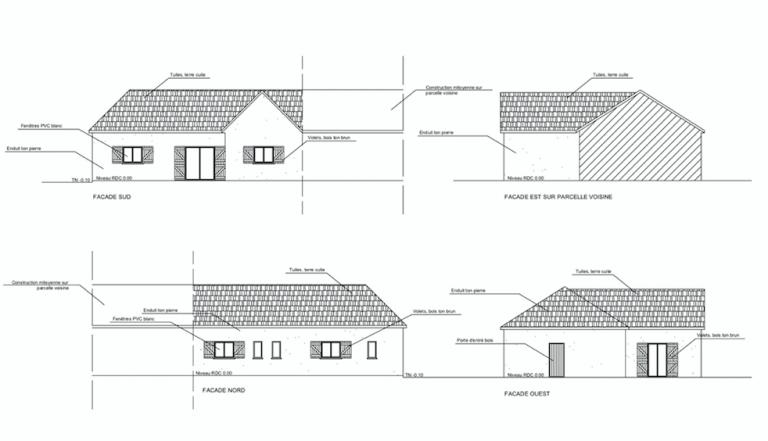 Plan de façade Existant