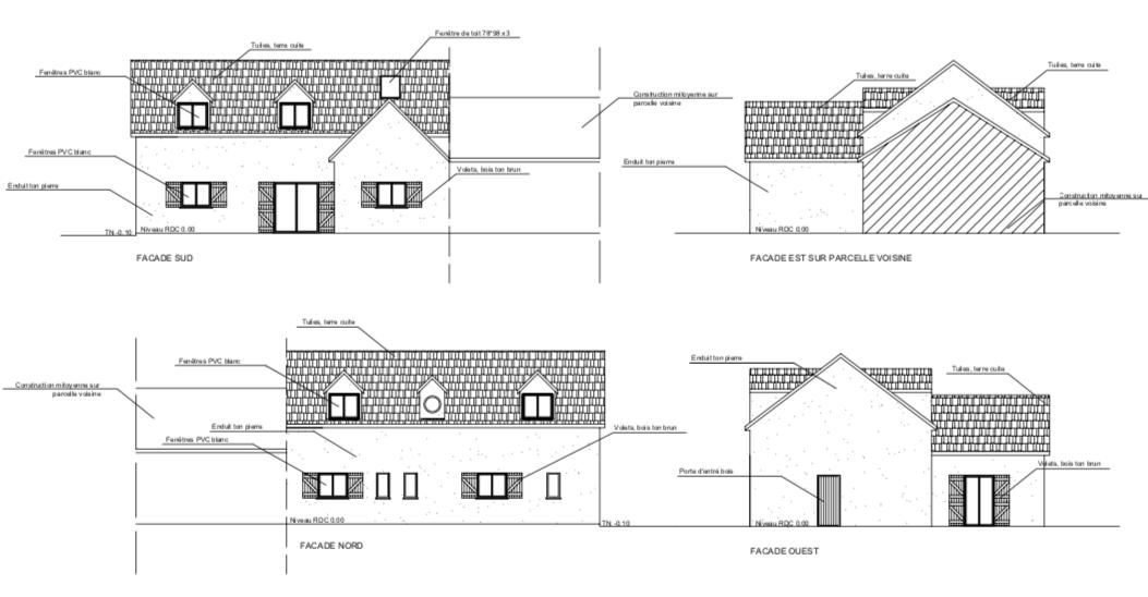 Plan de façade Projet